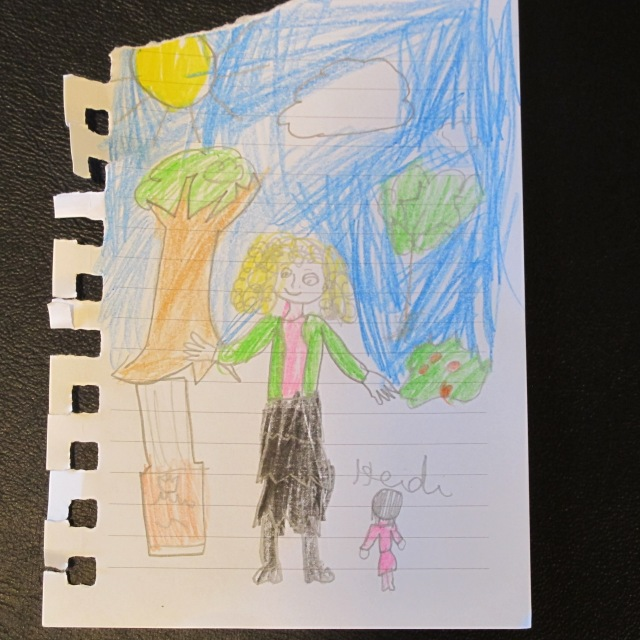 Drawing of Dr. Catherine Rupp by a child